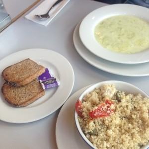 Quinoa-salad-Broccoli-Wensleydale-soup-@nancyspantryeat-crmb-dalston