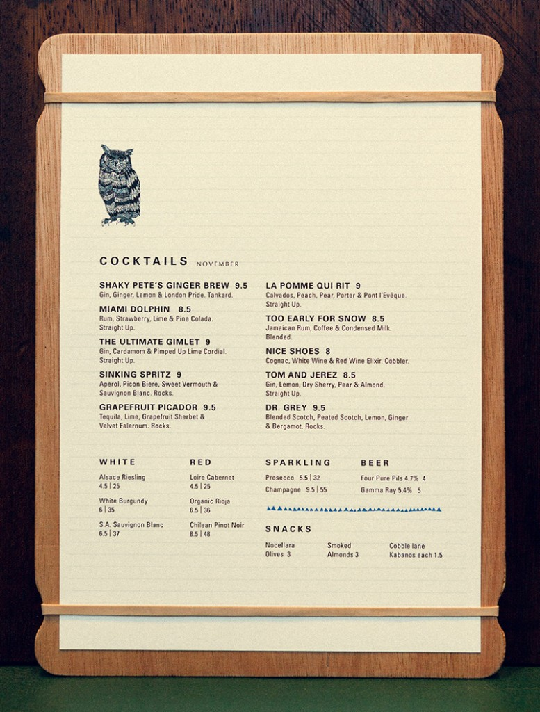Foxlow Balham The-Owl-Menu