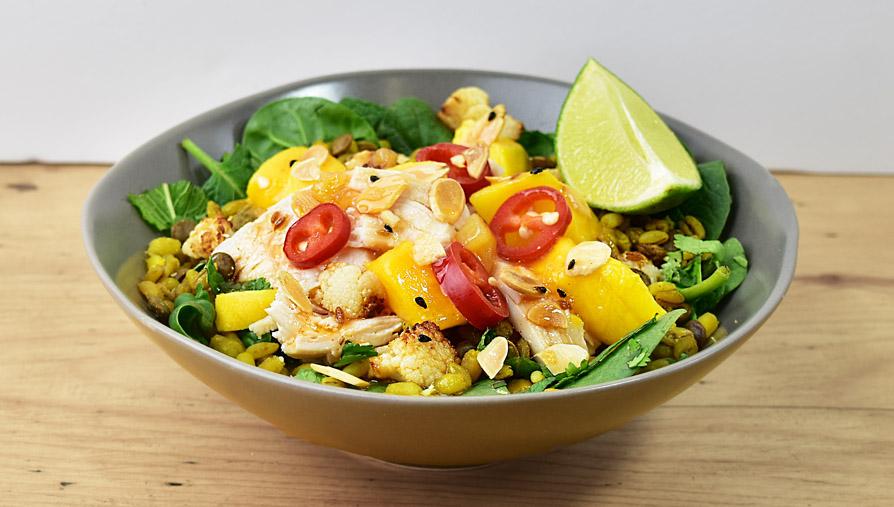 cauli chicken mango salad
