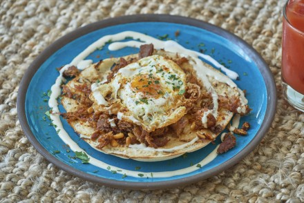Fried Egg on Hand-Pulled Shawarma edit