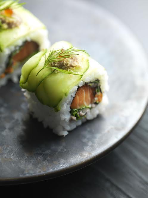 Salmon Gravlax Roll