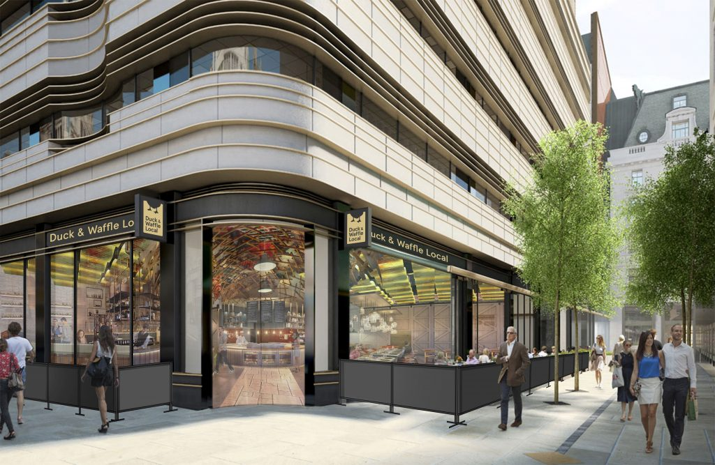 Duck & Waffle Local Exterior CGI