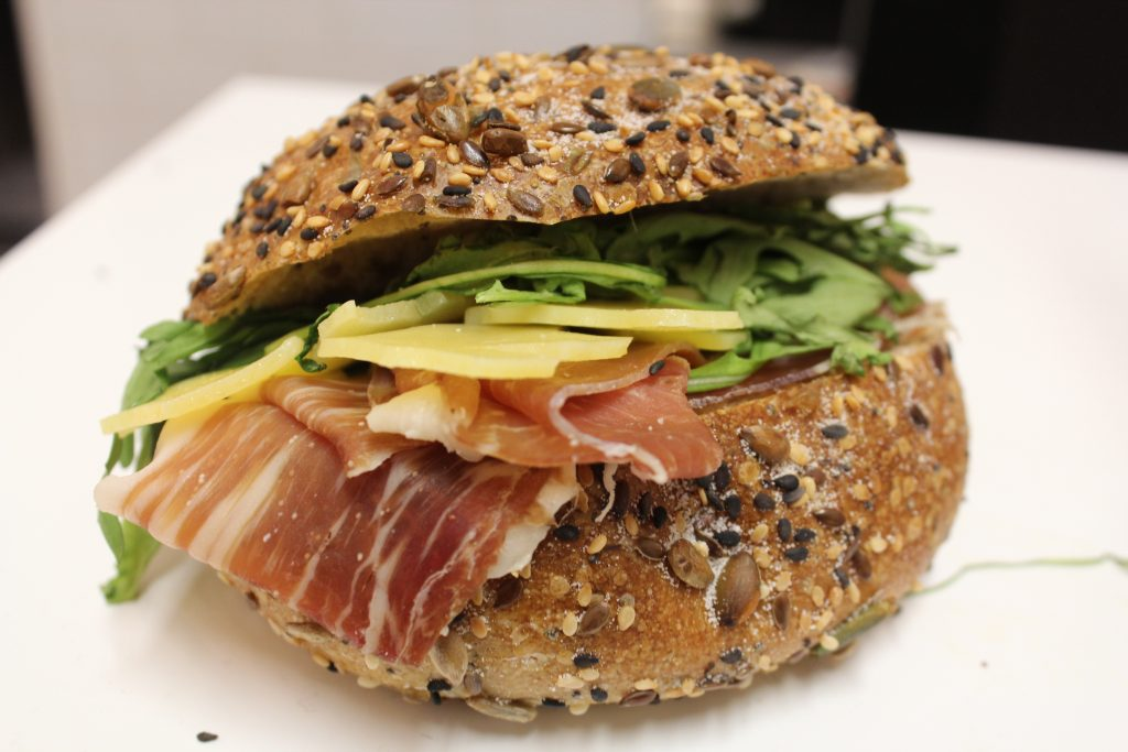 proscuitto ham & cheddar