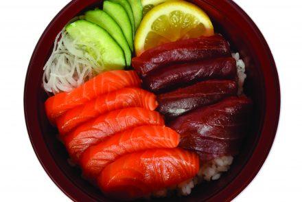 Sushi Gourget - 25 Tuna & Salmon Chirashi CMYK