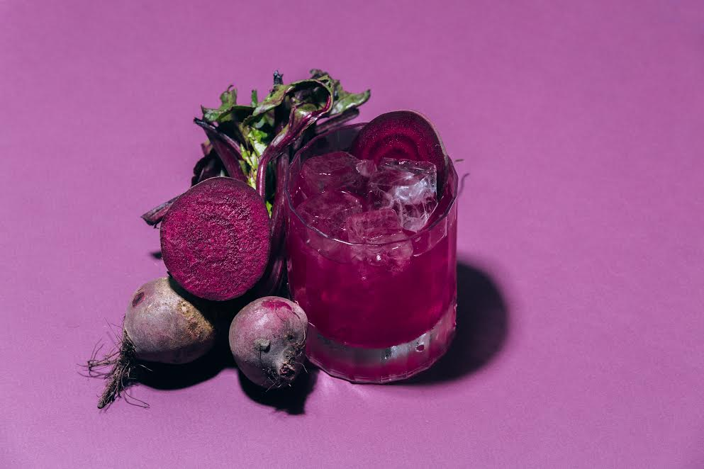 "Purple Cocktail - ROB SIMPSON - Head bartender at The Clove Club ""The Captain's Cape"" aka ""Beetroot Daiquiri"""