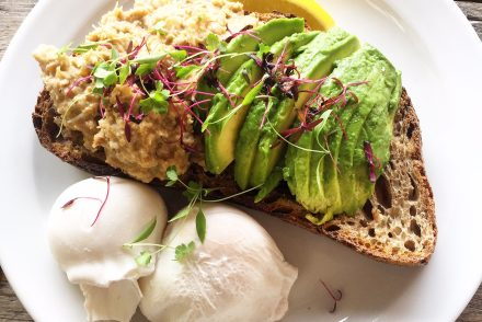 Morty & Bob's Crab, Avocado & Poached Eggs on Sourdough