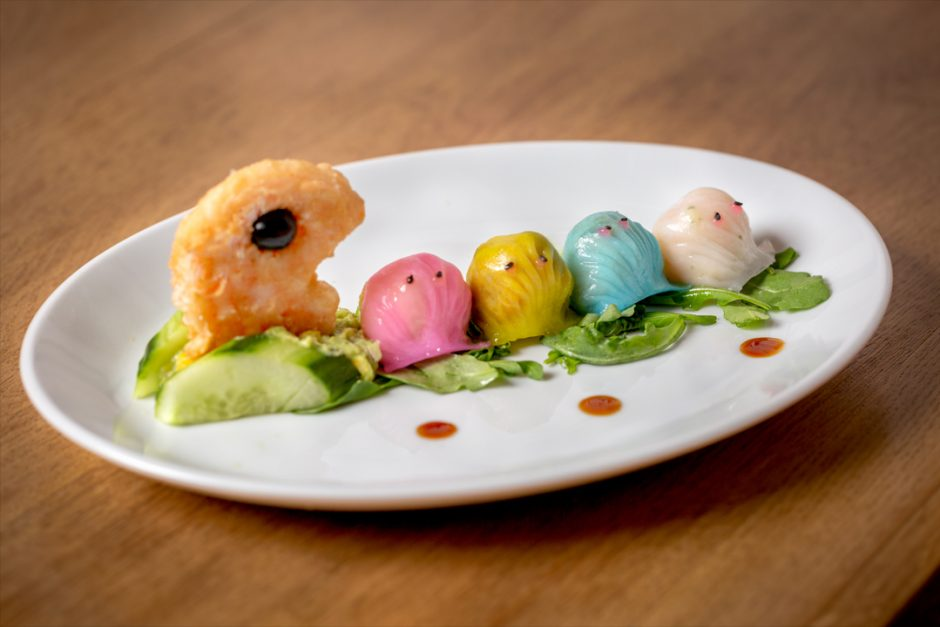 Crummbs London Restaurant Reviews RedFarm Pac Man Dumplings